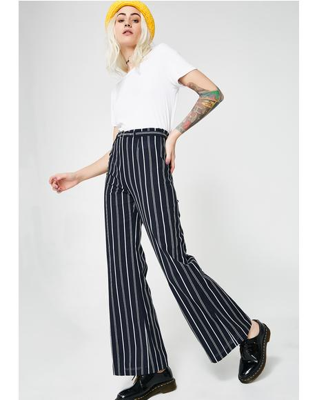 Let Me Out Striped Trousers