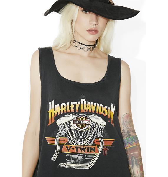 Vintage Harley Davidson V-Twin Tank