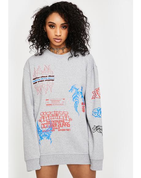 I Heart NGO Crewneck Sweatshirt