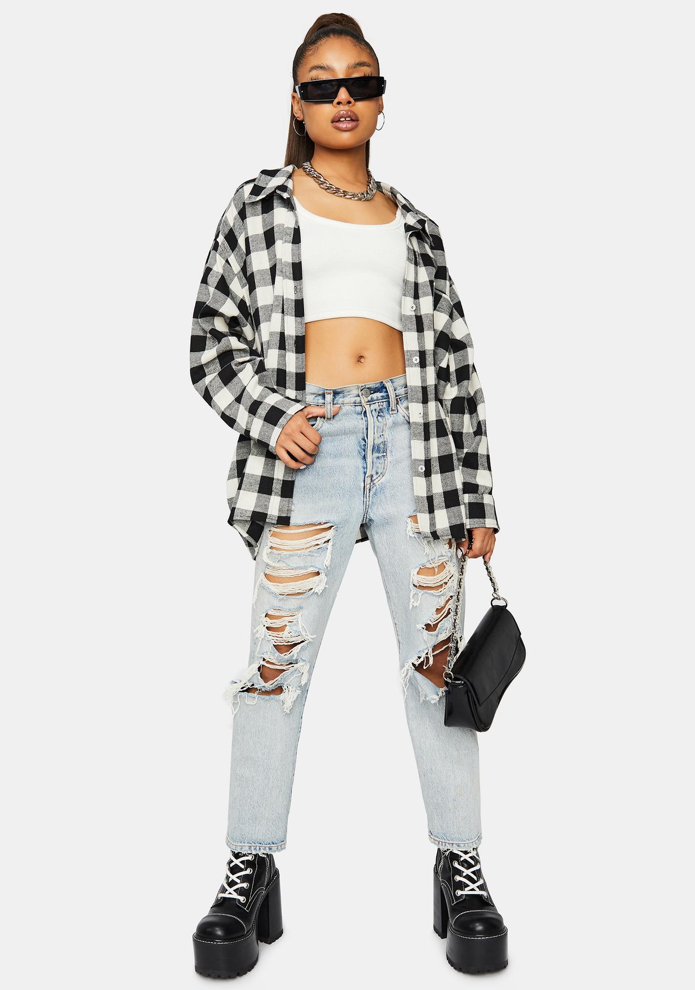 Need It Grunge Flannel Shirt