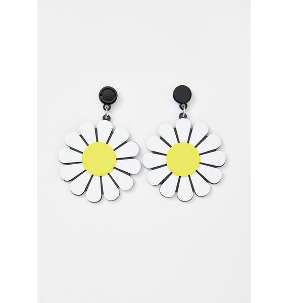 Dramatic Daisy Drop Earrings