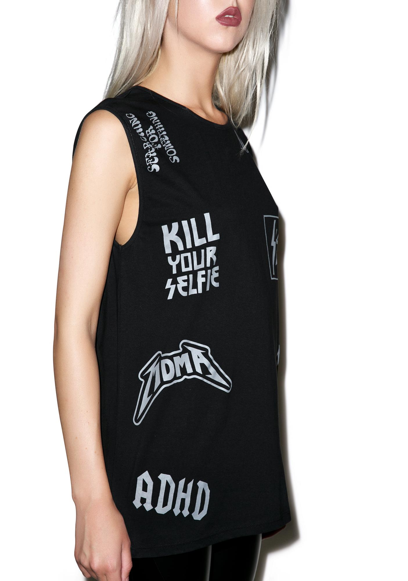 Disturbia Kill Your Selfie Muscle Tank