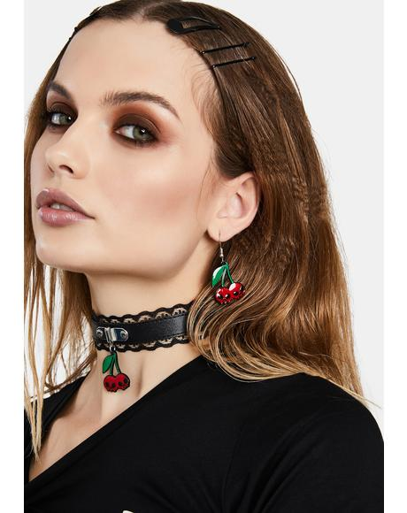 I Want Cherries Drop Earrings