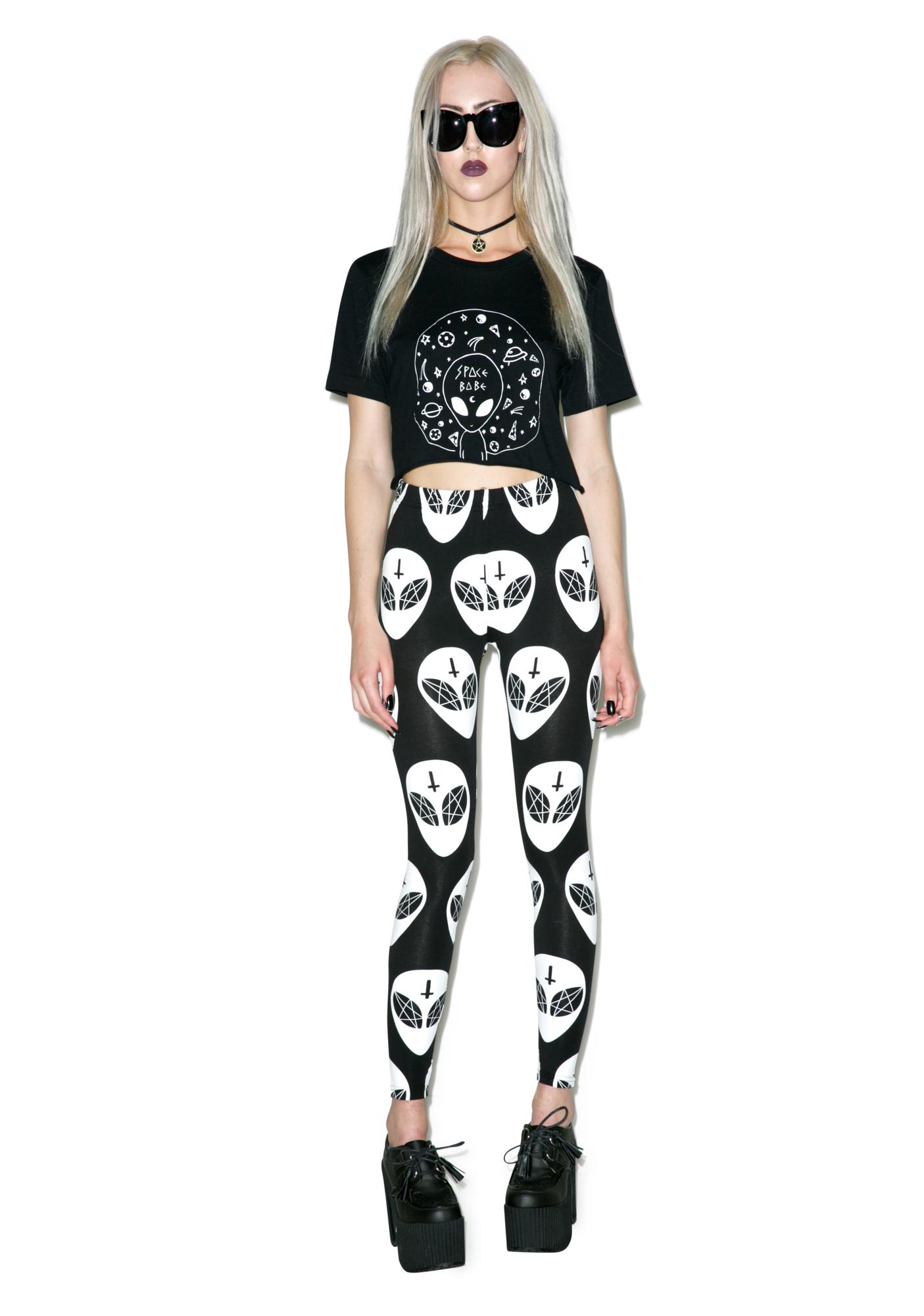 Moon River Space Babe Crop Top