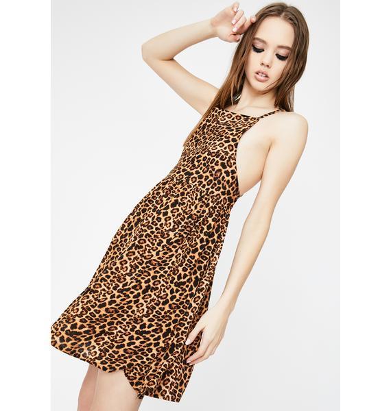 Daisy Street Leopard Cami Smock Dress