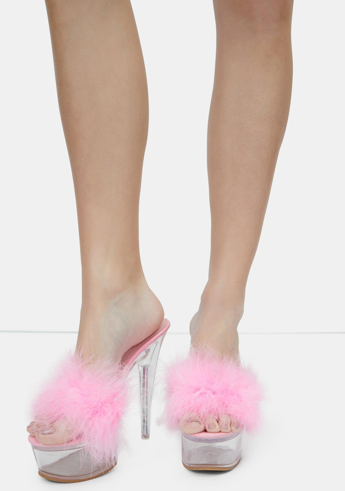 Baby With My Boo Platform Feather Heels