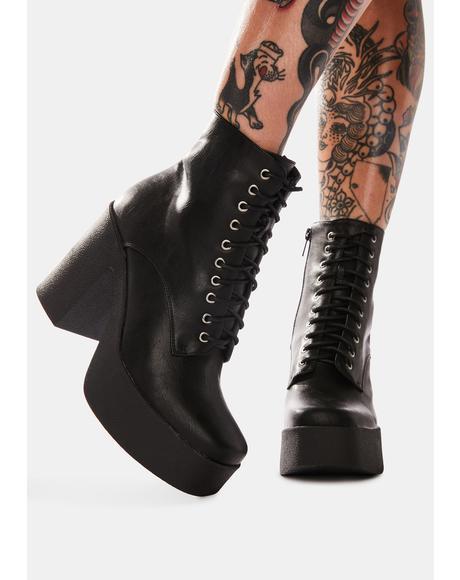 Insomnia Platform Ankle Boots