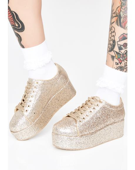Goldie On A Sparkle High Platforms