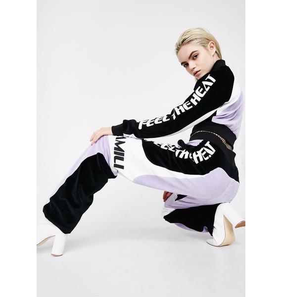 Namilia Lavender Velour Motocross Trousers