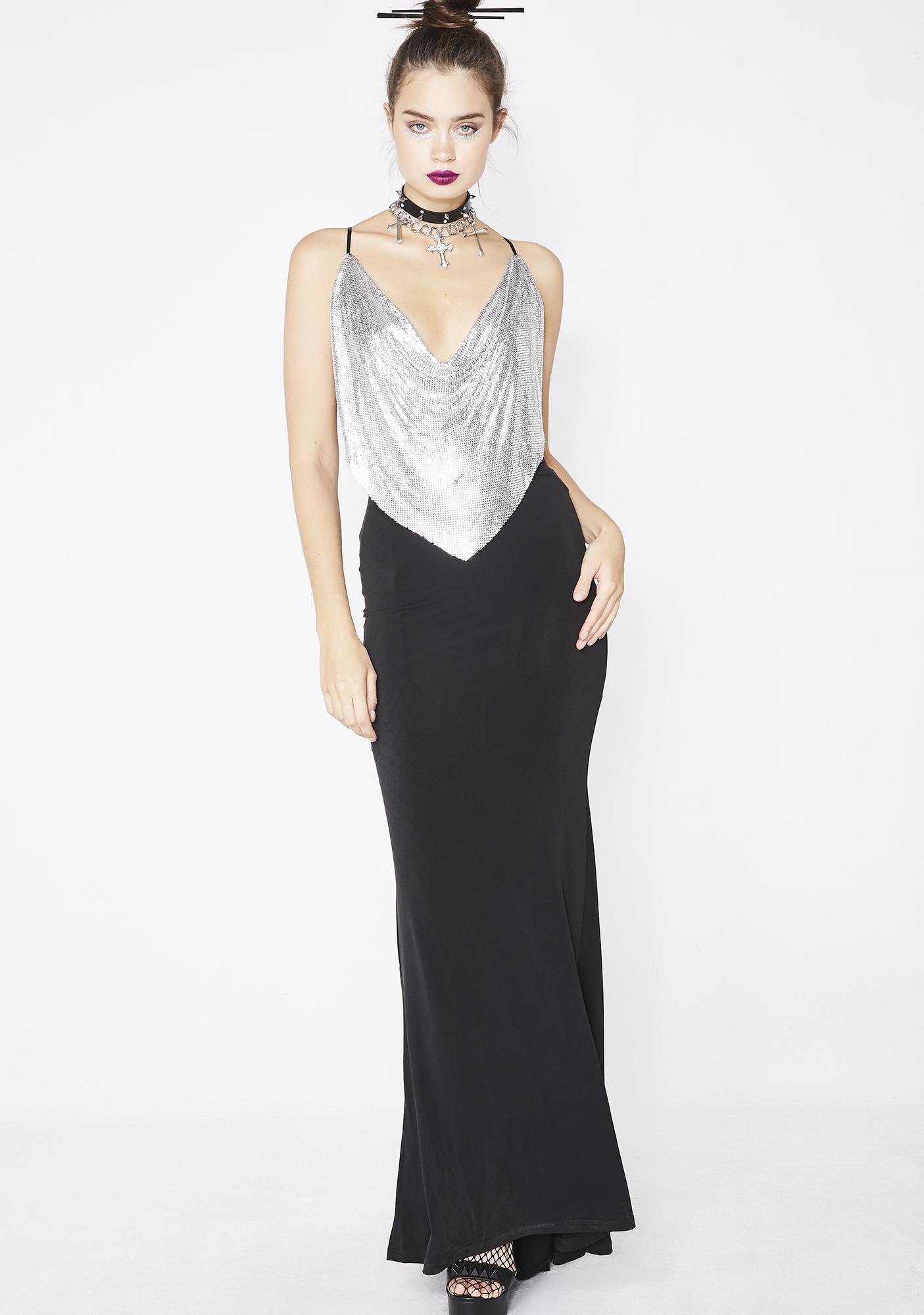 044f74f8190 Kiki Riki Dipped In Finesse Chainmail Dress