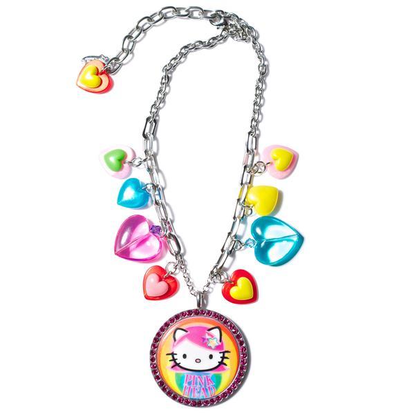 Tarina Tarantino Pink Head Multicharm Necklace