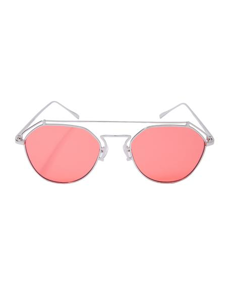 Ruby Stephanie Transparent Aviators