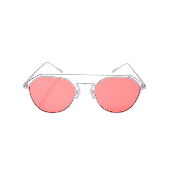 YHF Ruby Stephanie Transparent Aviators