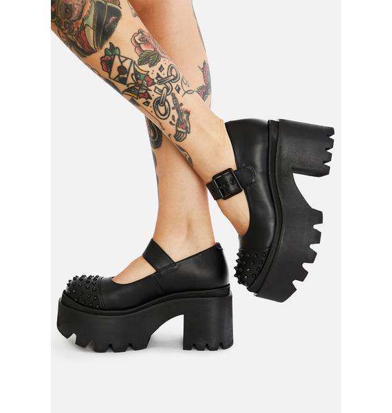 Charla Tedrick Metal Mary Jane Platforms