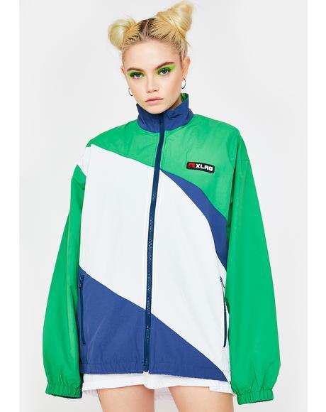 Slash Paneled Nylon Jacket
