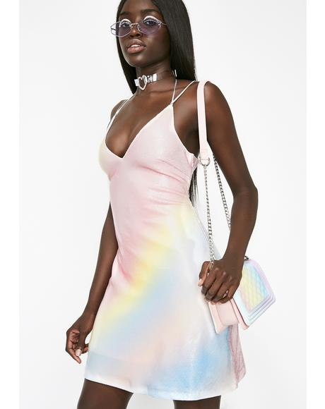Rainbow Sherbert Sequin Dress