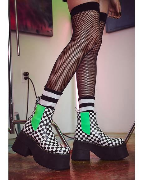 Acid Reaction Ankle Boots