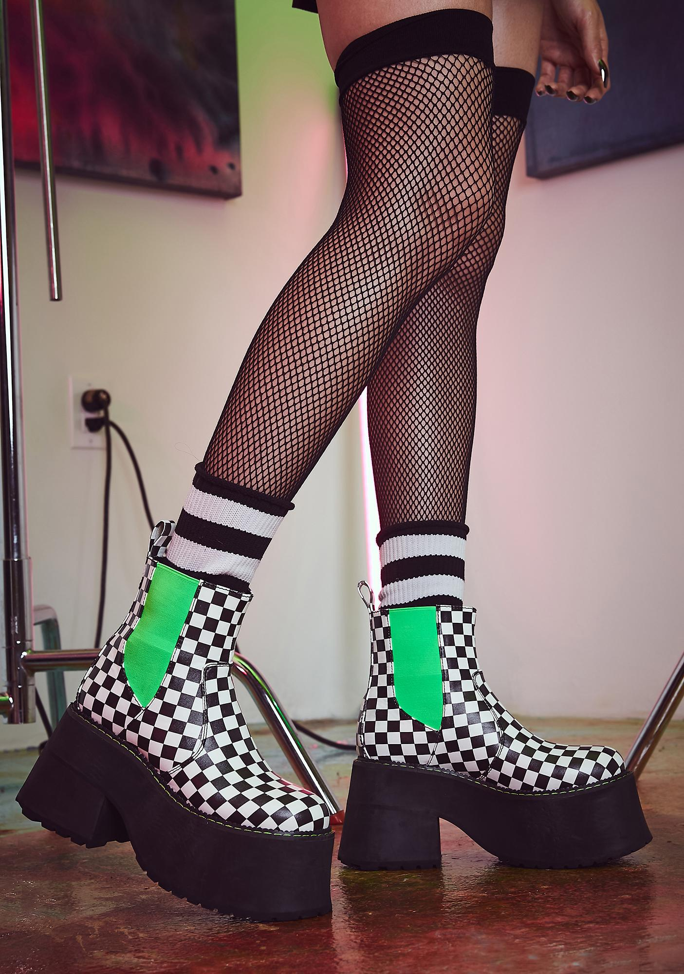 Current Mood Acid Reaction Ankle Boots