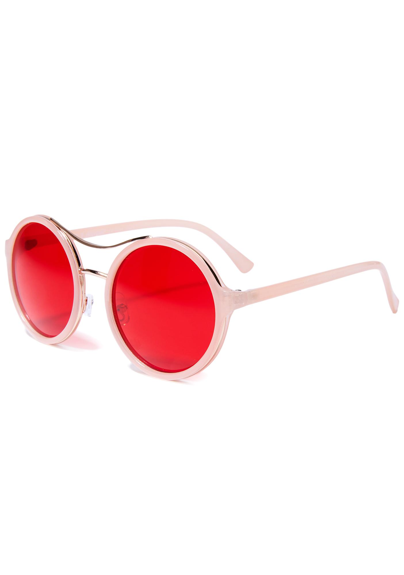 Life In Pink Round Sunglasses