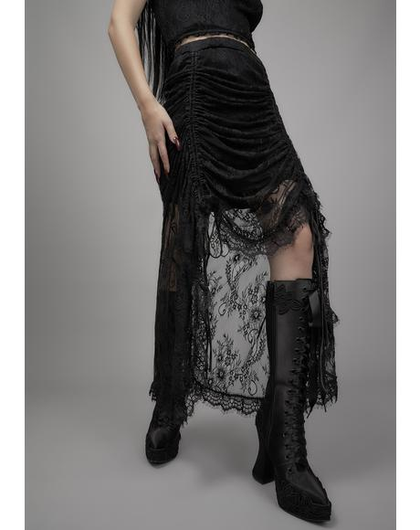 Grave Importance Lace Midi Skirt
