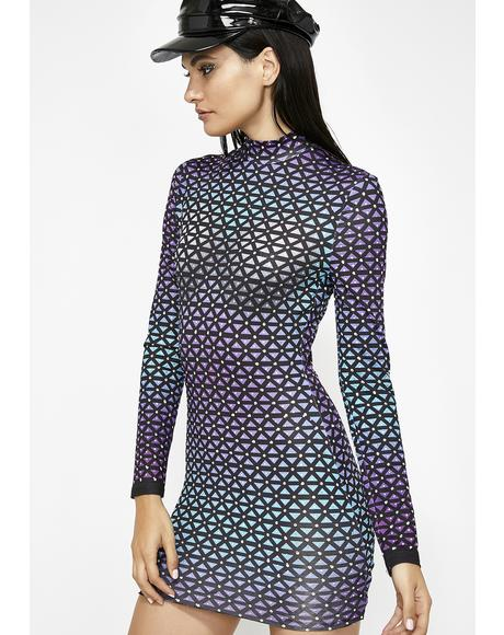 Geometric Thoughts Mini Dress