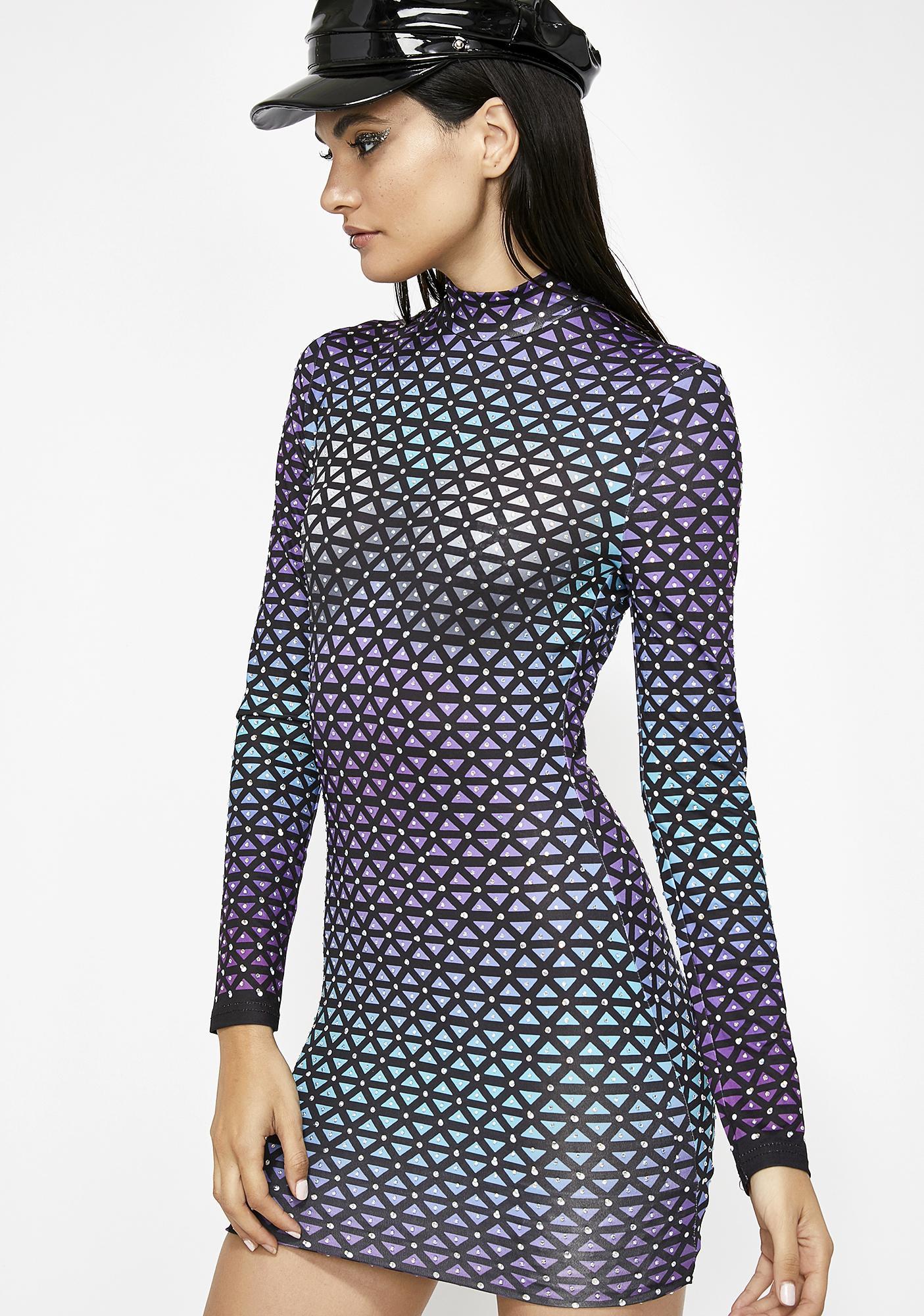 2019 year looks- Night to Class Out: Geometric Print Dress