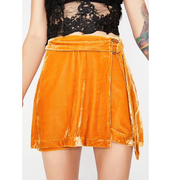 Tastes Like Honey Velvet Skirt