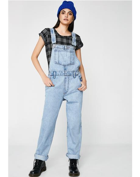 Miss Twin Peaks Baggy Overalls