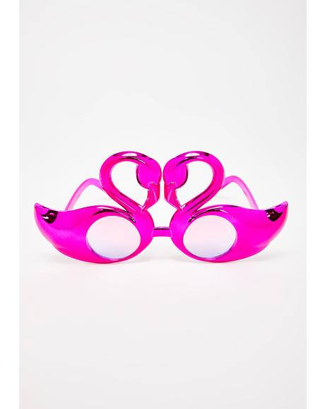 Blast In A Glass Flamingo Sunglasses