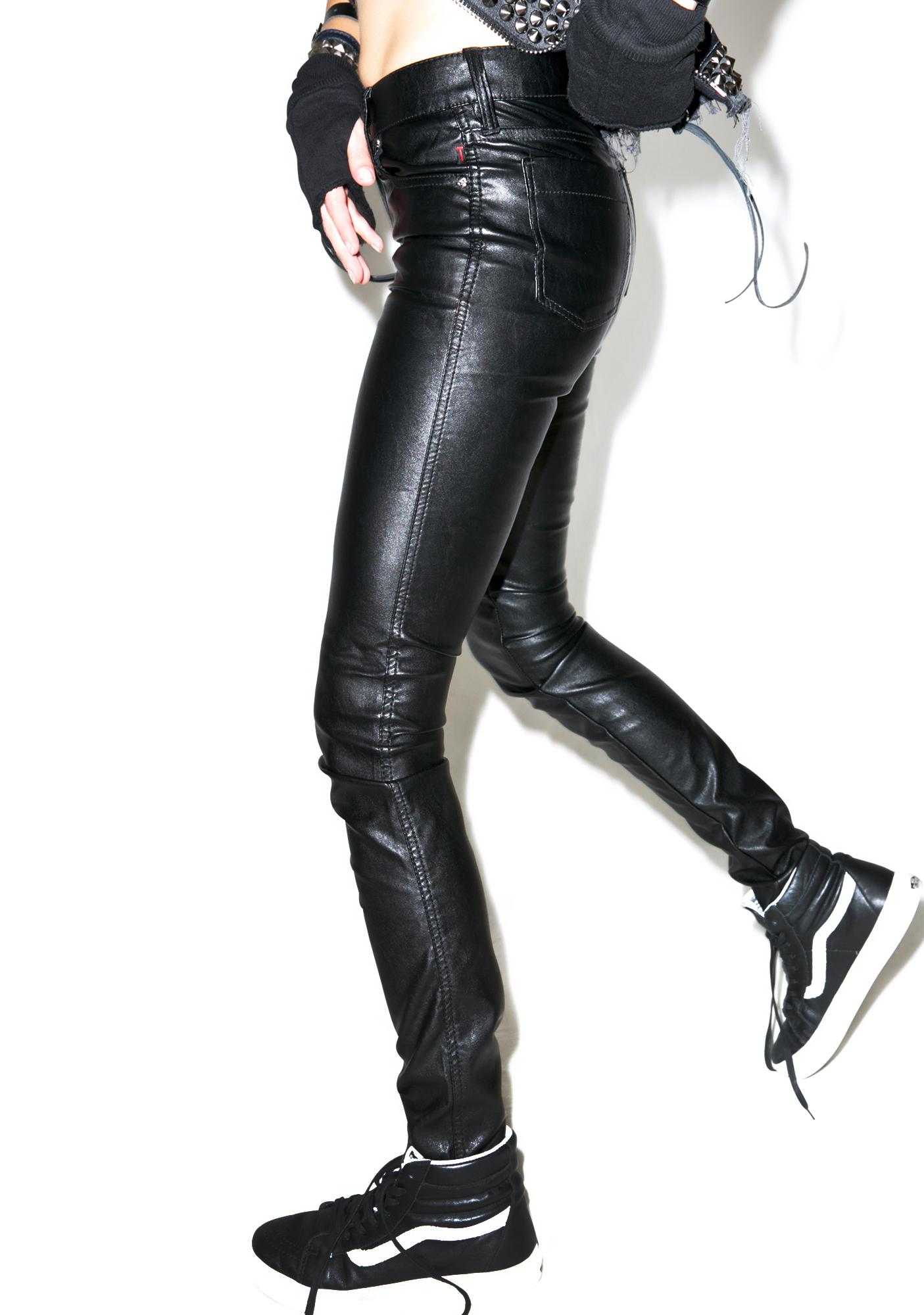 Tripp NYC Faux Leather Skinny Pants