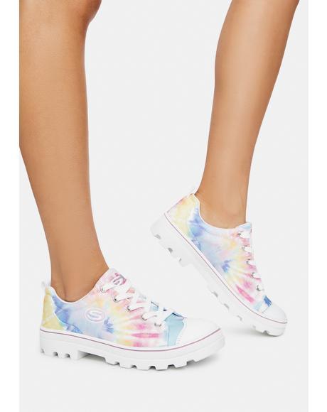 White Rainbow Berkeley Blocks Roadies Sneakers