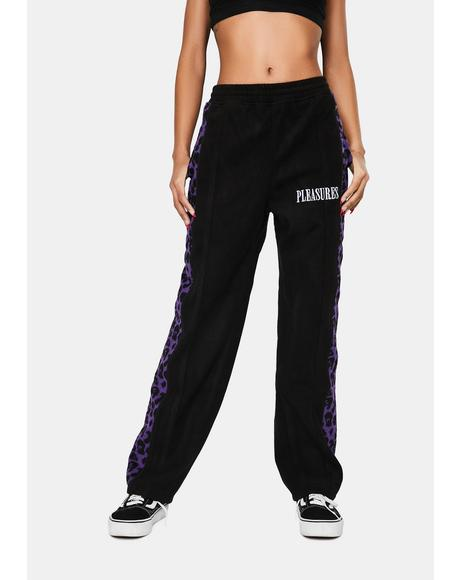 Black Memories Leopard Velour Pants
