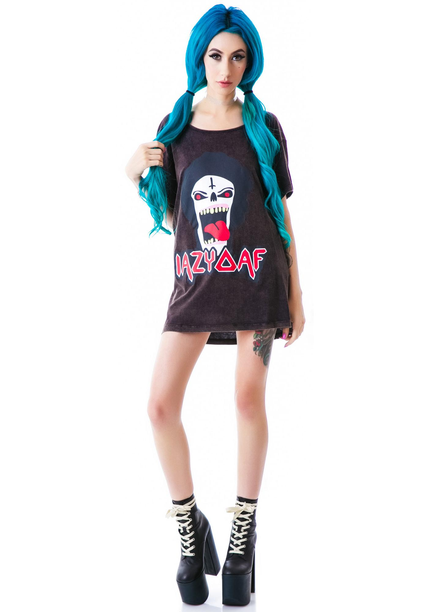 Lazy Oaf Metal Head Slob Tee