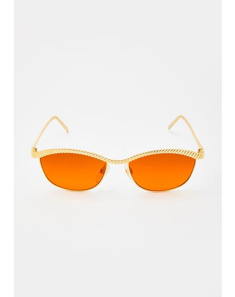 Dawn Gold Sunglasses