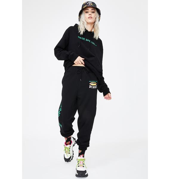 Petals and Peacocks X Pink's Hot Dogs Made Special Sweatpants