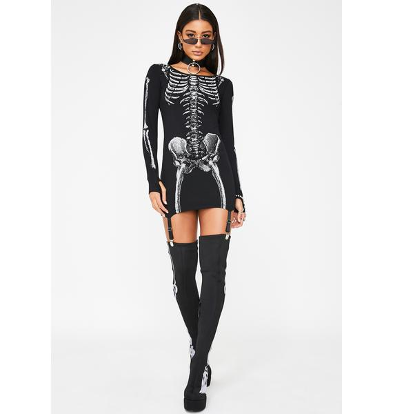 Dolls Kill Cold To The Bone Reflective Dress