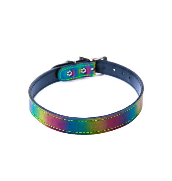 Club Exx Rainbow Rave Choker