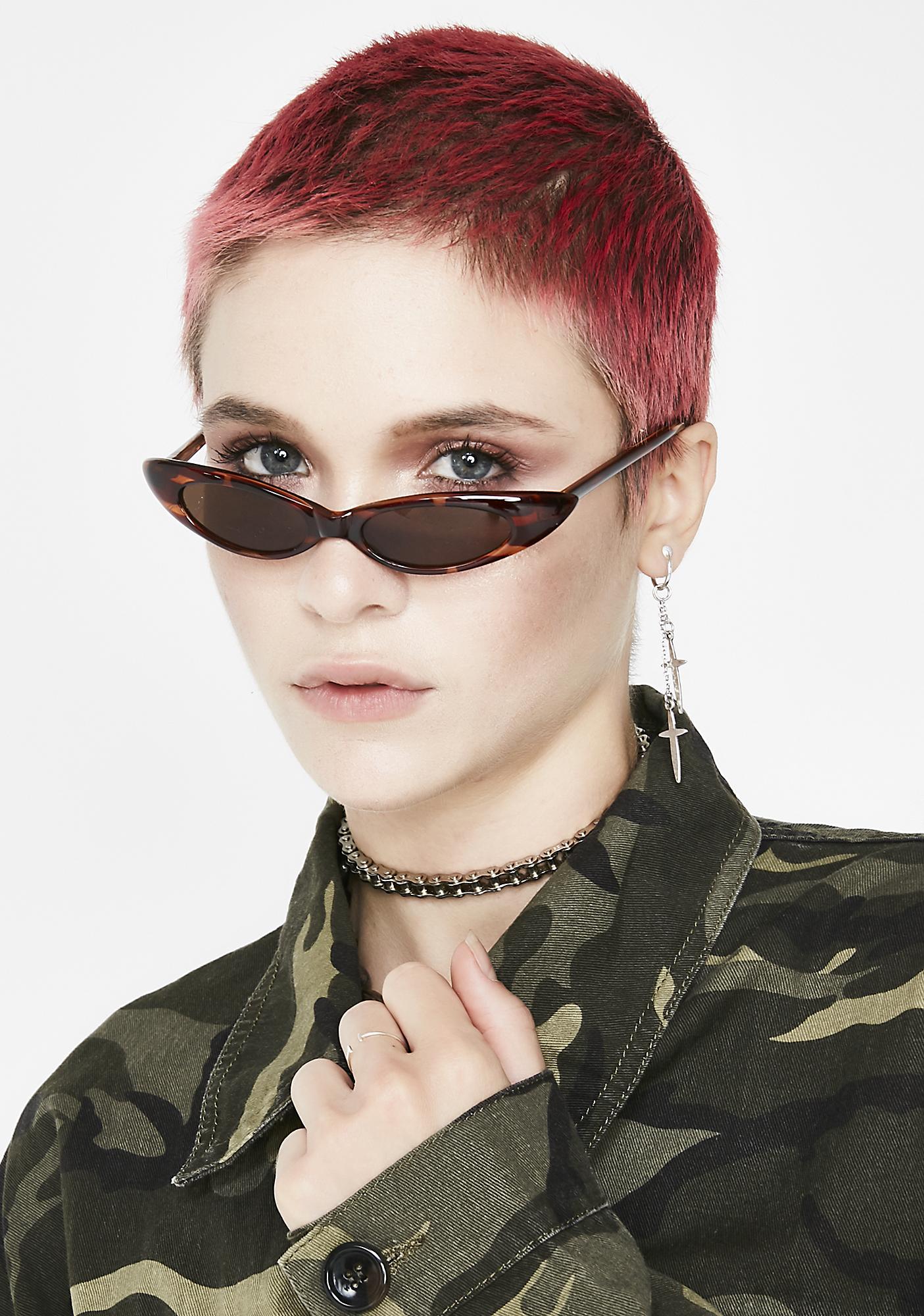 Supa Fly Micro Cat Eye Sunglasses