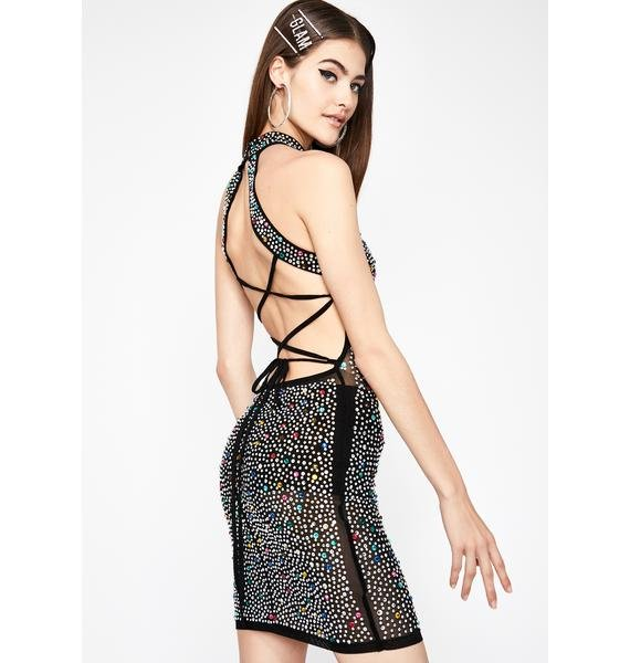Dark Glitz N' Glamour Halter Dress