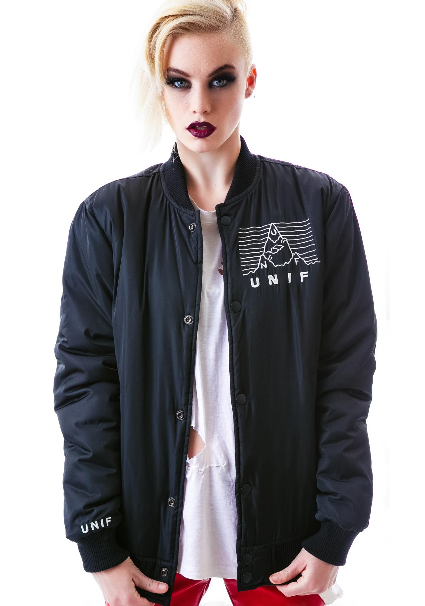 UNIF No Pleasures Bomber Jacket