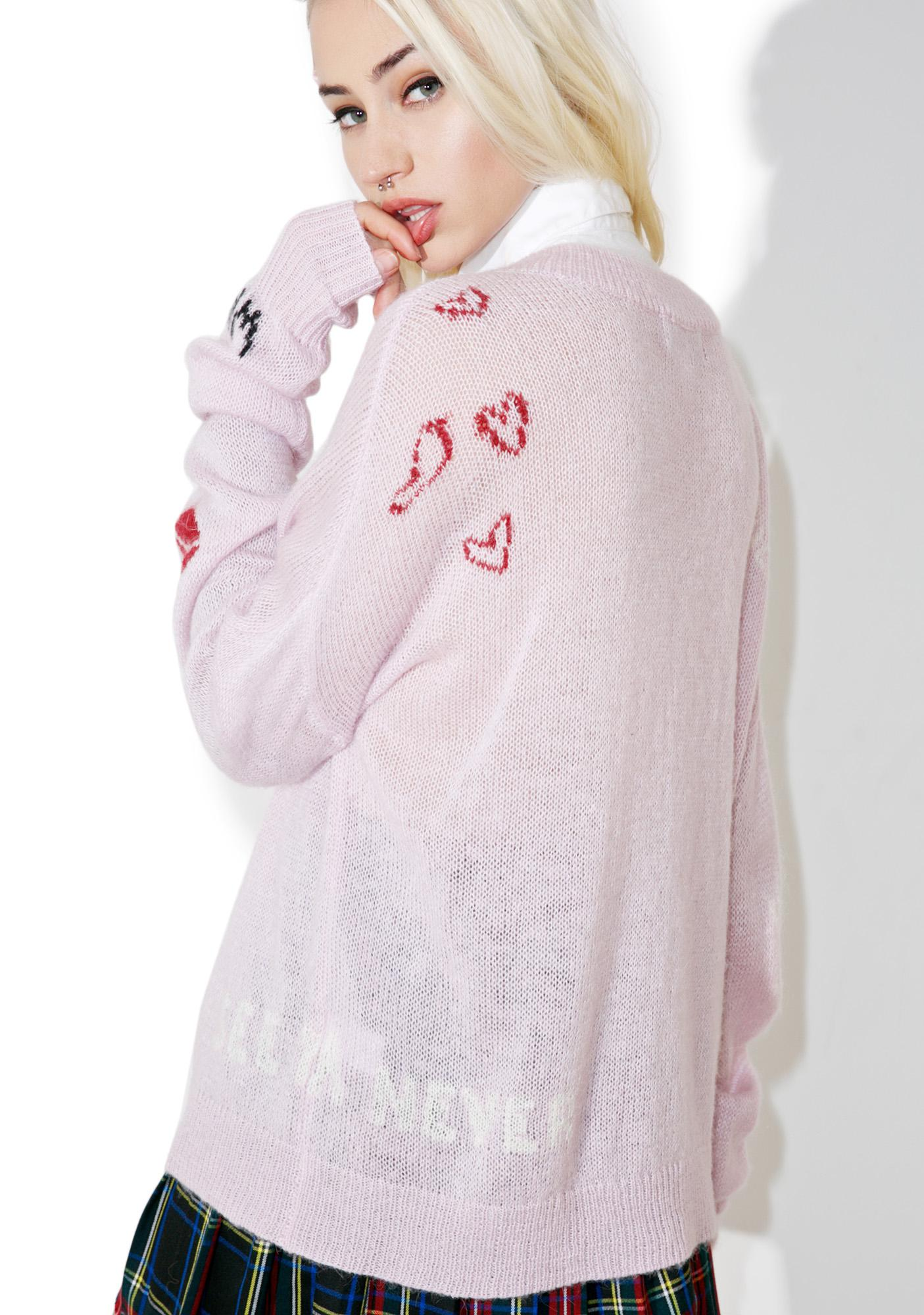 Wildfox Couture Girls Room Wordz Sweater