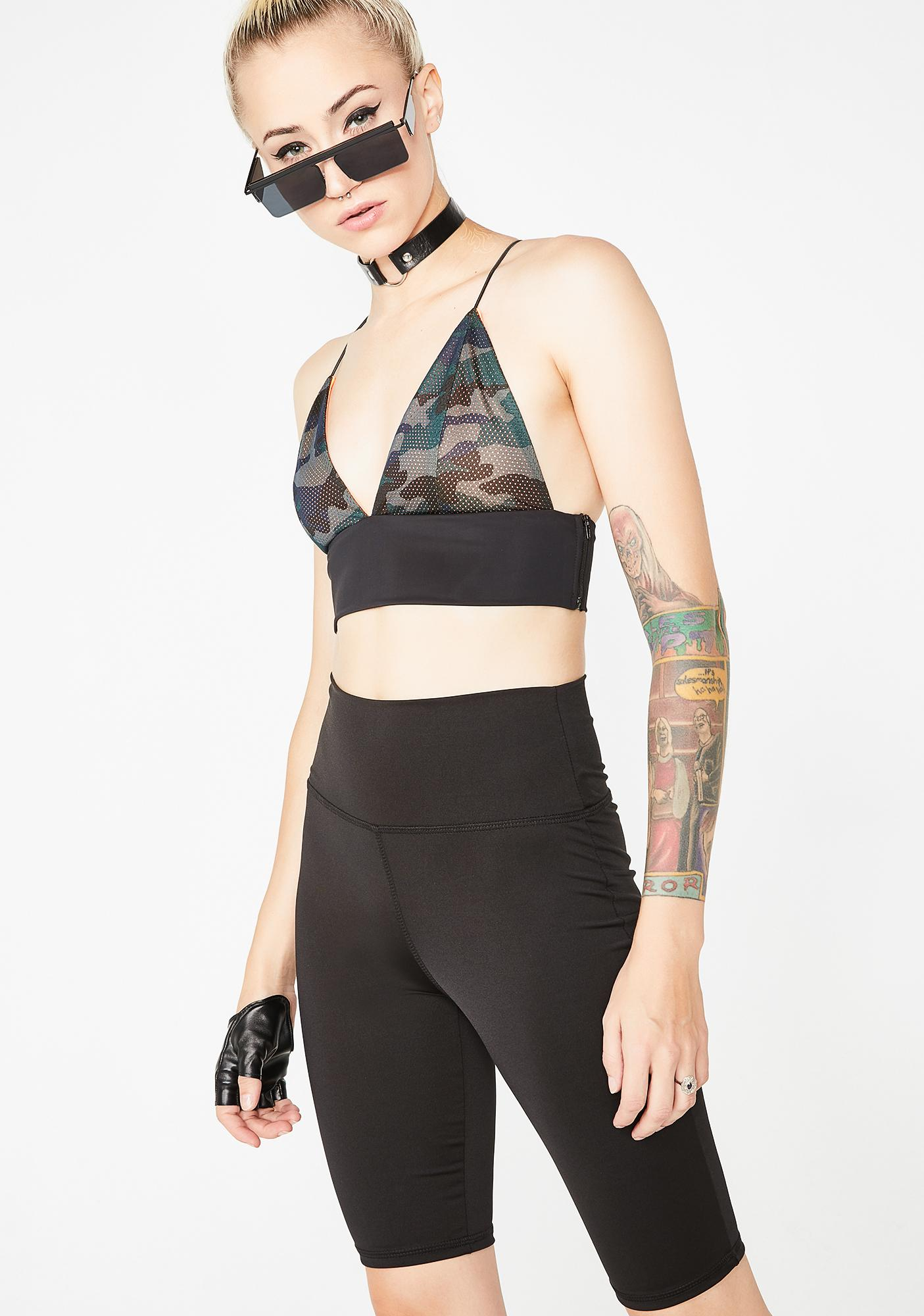 Biker Barb High Waist Shorts