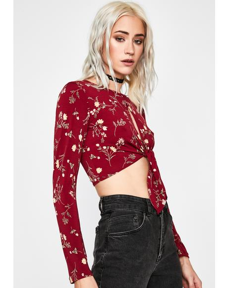 Hot Punk Posie Floral Top