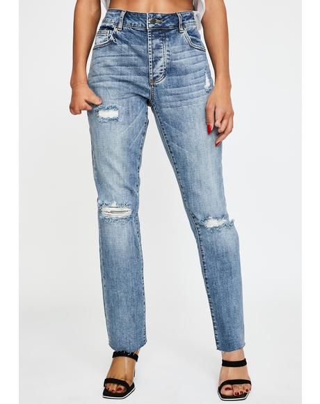 Crosby Distressed Boyfriend Jeans