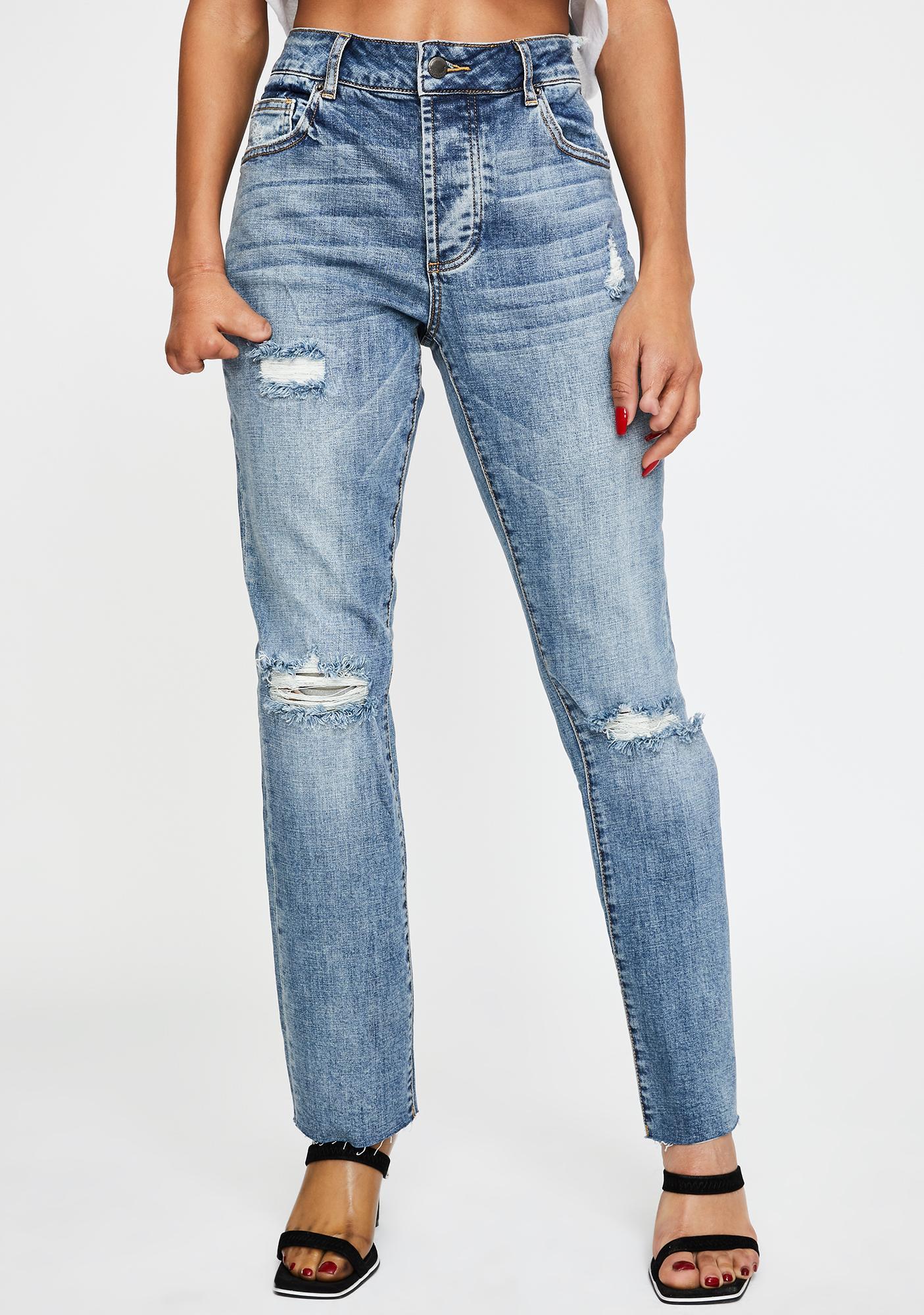 Oliver Logan Crosby Distressed Boyfriend Jeans