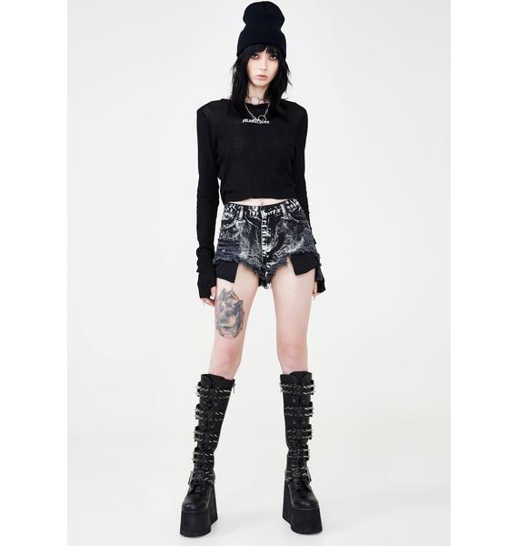 Disturbia Rage Denim Shorts