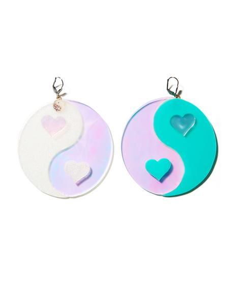 Yin Yang Hearts Earrings