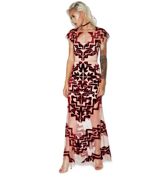 For Love & Lemons Vienna Maxi Dress