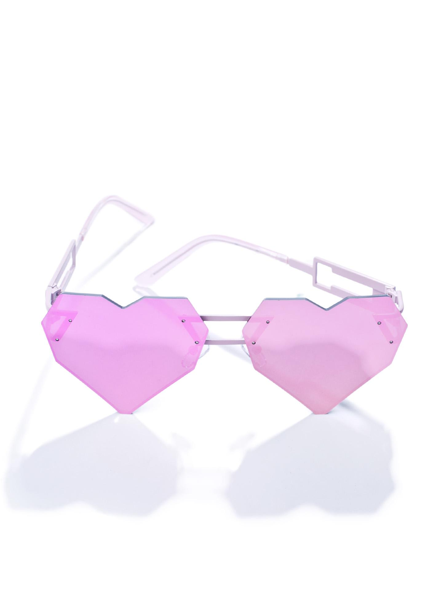 ESQAPE Pink Heart Speqz Sunglasses