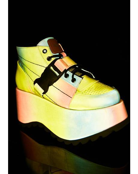 Globe Reflective Platform Sneakers